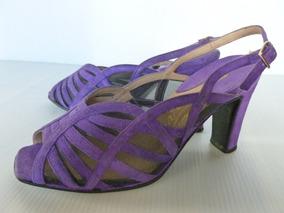 Sandalias De Vestir Violetas T. 37