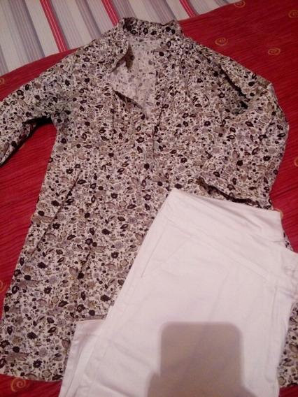 Pantalon Recto Y Camisa Entallada (zara,lolita,limite)