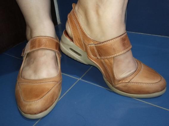 Zapatos Guillerminas De Cuero Marcel Calzados T 36 Impecable