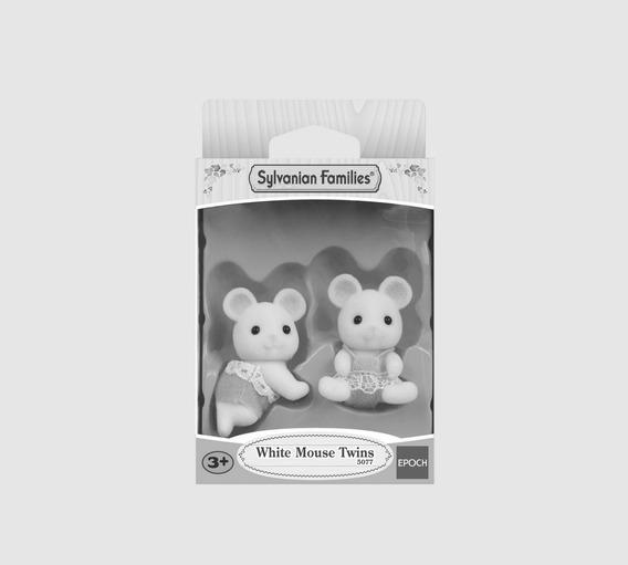 Sylvanian Families White Mouse Twins 5077