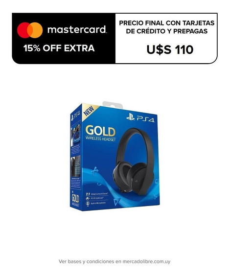 Auriculares Ps4 Playstation 4 New Gold Inalámb. Office 2000