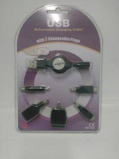 Conector De Carga 5 Tipos En 1
