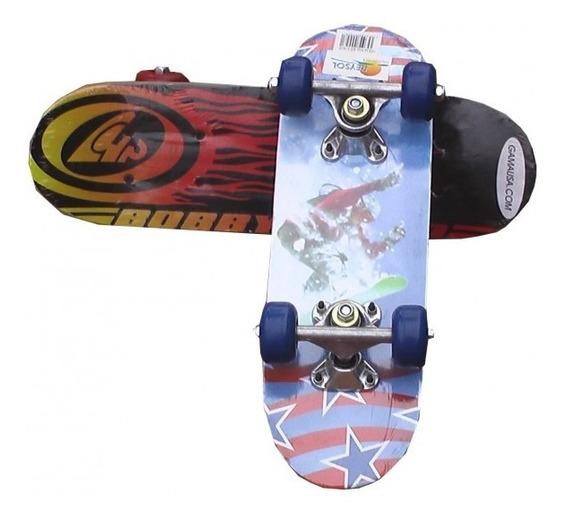 Skate Patineta Para Niños Mediano Varios Diseños
