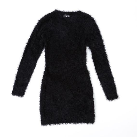 Sweater Piel De Mono Negro W1269/3 Tienda Oficial