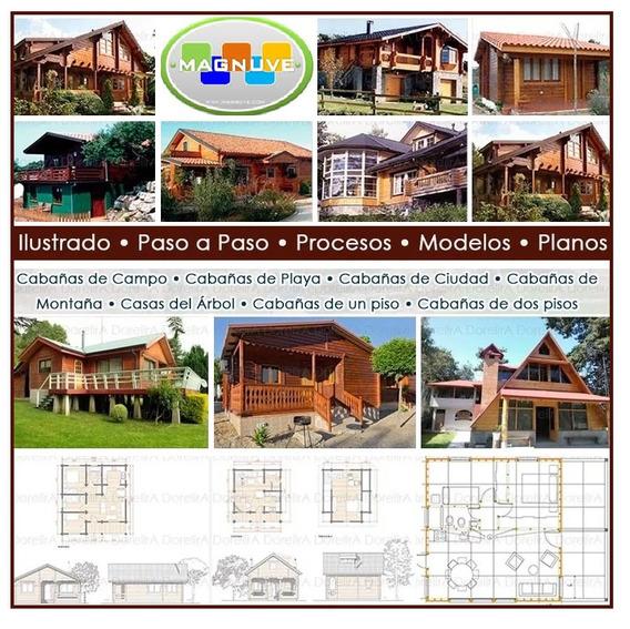 Construye Casas Cabañas Madera+20.000 Planos De Carpinteria