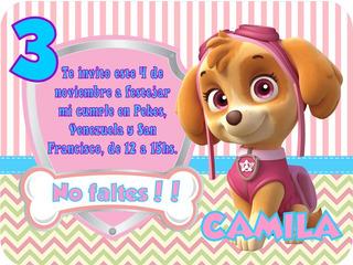 Tarjetas Invitaciones La Patrulla Canina En Mercado Libre