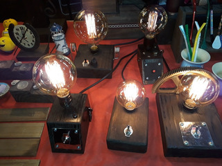 De Luz De el Iluminación para Vintage Mesa Lampara Hogar SUVMzqp
