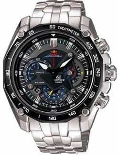 Reloj Hombre Casio Edifice Ef-550 Red Bull Original En Stock