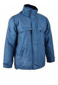 Campera Abrigo Y Trabajo Hombres En Azul Acero - Textilshop