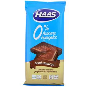 Haas Tableta 0% Azucar +car Semi-amargo 150g.