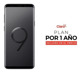 Samsung Galaxy S9+ - Black + Plan De 2gb Por Un Año Incluido