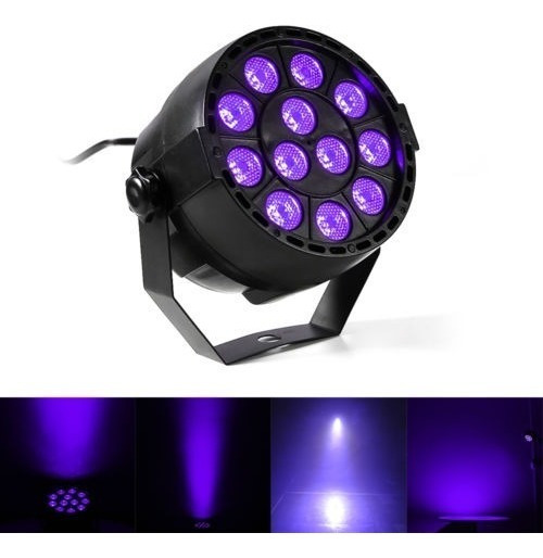 Tacho Foco Luces Led Luz Negra Dmx Fiestas Fluor