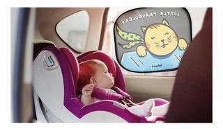 Parasol Adhesivo Y Plegable Vidrio Auto 2 Unidades Babypack