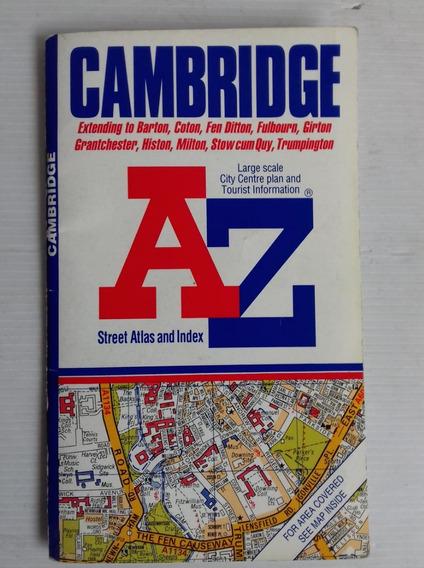 Cambridge A Z Street Atlas Plan And Index Libro Mapa Turismo