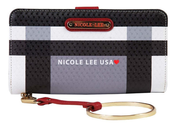 Billetera Dama Nicole Lee Usa (chk6823) Rojo Y Negro