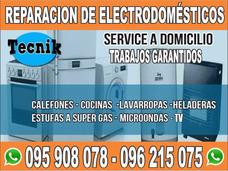 Reparacion Heladeras .lavarropas, Cocinas, Calefones .estufa