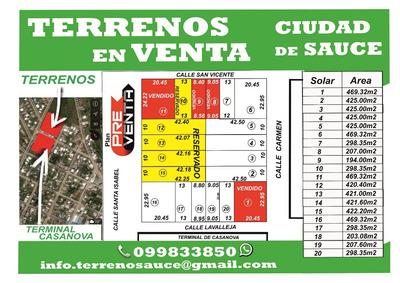 Terrenos En Sauce Gran Oportunidad!!!
