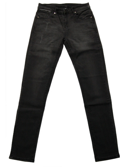 Jeans Elastizado Achupinado Negro 7115mr/13