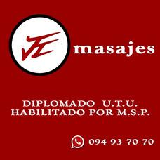 Masajes Descontracturantes | Diplomado Utu | Habilitado Msp