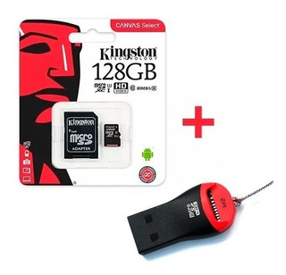 Memoria Micro Sd Kingston 128gb C10 80mb/s + Pendrive Febo