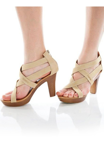 Sandalias Taco Liviano Calzado Mujer