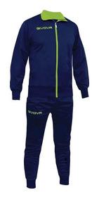 Conjunto Givova Polyester Hombre Campera Pantalón Deportivo
