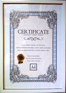 Portarretrato A4 Ideal Diploma 9 Modelos C/vidrio