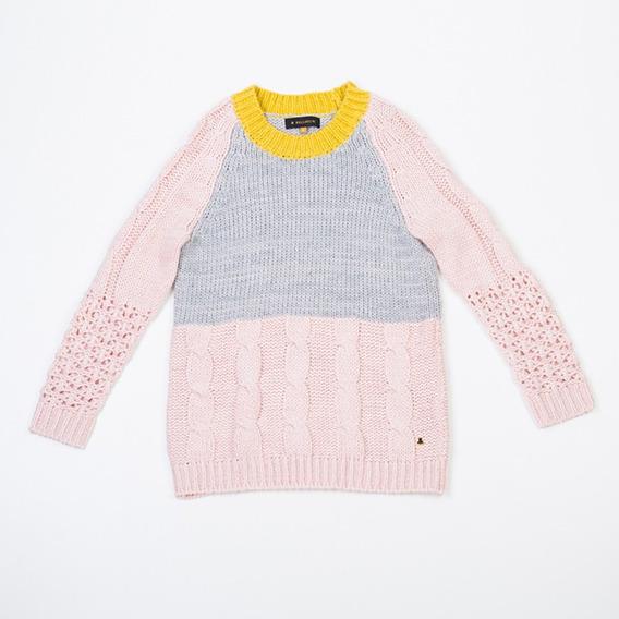 Sweater Tejido Rosa Swbell112/9892 Tienda Oficial