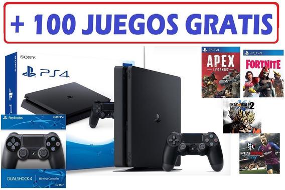 Play 4 1 Tera 2 Controles + 100 Juegos Gratis + Garantia