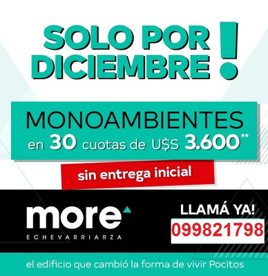 Venta De Apartamentos - Monoambiente - Promo Diciembre