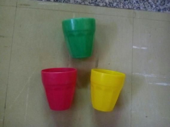 Vasos En Plastico, Impecables. Fabrica Nibo-plast
