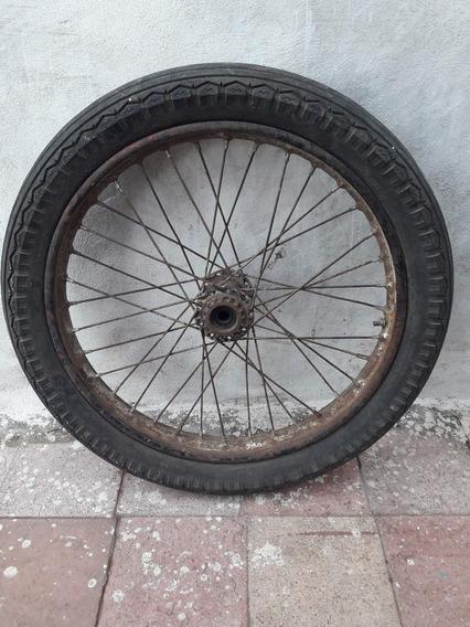 Antigua Rueda Moto Rodado 19 / 3.50 Sidecar