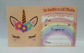 Tarjetas De Unicornios Cumpleaños En Mercado Libre Uruguay
