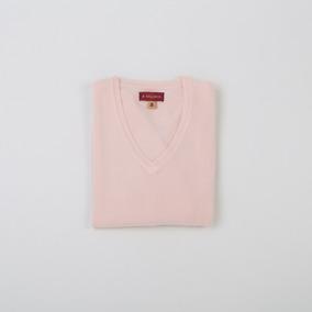 Sweater Dama Básico Escote En V Rosa