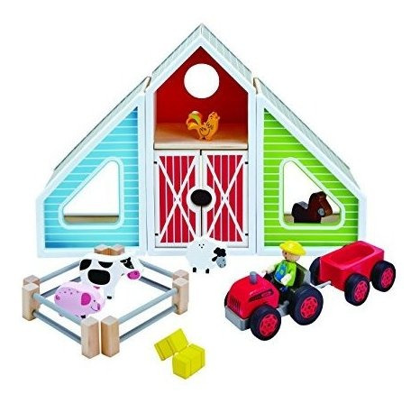 Set De Juego De Madera Hape Classic Colorful Barn