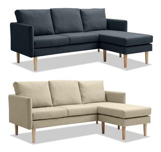 Sillon Sofa Chaise Longue 3 Cuerpos Sillones Juego Tela Lg