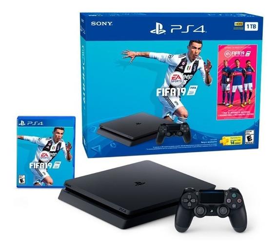 Play Station Ps4 Slim 1000gb + Fifa 19 + 1 Control Albion