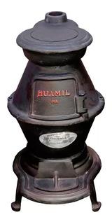 Estufa Calefactor Leña Quematuti Huamil Grande 60cm Elsue