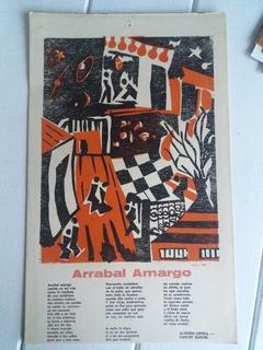 Xilografia Arrabal Amargo Alfredo Lepera Carlos Gardel