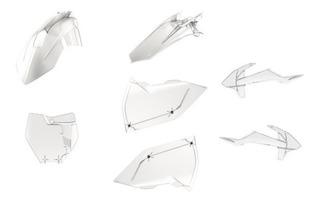 Kit De Plasticos Transparentes Ktm Sx Sxf Ex Exc Polisport