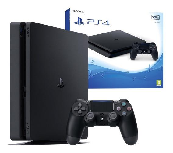 Ps4 Play Playstation 4 Slim 500gb Slim + Control Negra