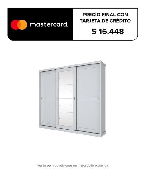 Placard Ropero Dormitorio Grande Puerta Corredizas Espejos