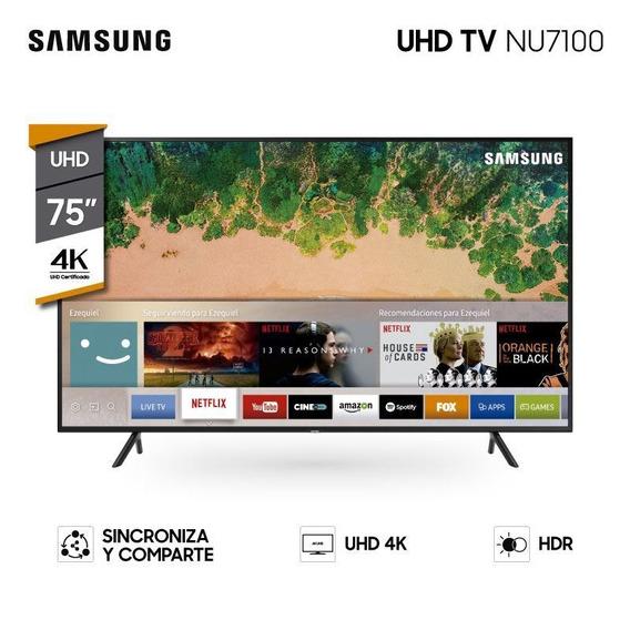 Smart Tv Samsung 75 Uhd 4k Quad Core Web Browser Nu7100 Pcm