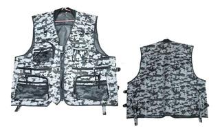Chaleco Camuflado Pesca/caza Talle Xxl Explorer Pro Shop
