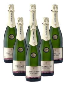 Champagne Español Cristalino X 6 Botellas Demisec