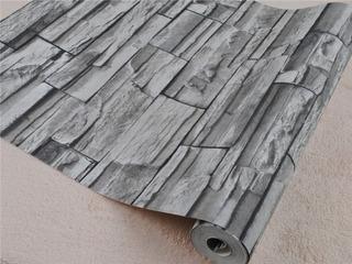 Papel Adhesivo Empapelar Paredes Similar Piedra Gris Lavable