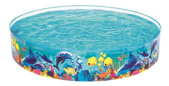 Piscina Para Niños Trasparente C/peces Bestway Lg