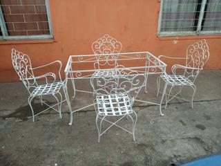 Juego Jardin Hierro Forjado - Muebles de Jardín en Mercado Libre Uruguay