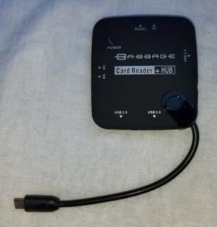 Adaptador Hub Usb Otg Lector De Memorias Tablets Y Celulares