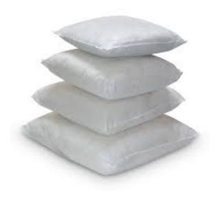 Almohadones Para Relleno 60x60 Fibra Siliconada 100%!